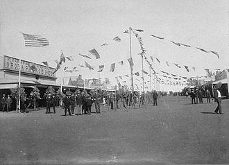 Sandstone, Western Australia - Empire Day celebrations in Hack Street, 1909