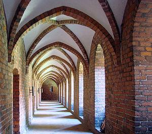 Carmelite Priory, Helsingør - Image: Sankt Mariae Helsingoer Klostergangen