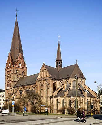 St. Peter's Church, Malmö - The exterior of the church, 2015