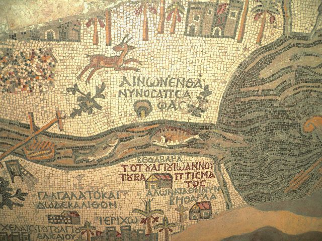 close-up of the Madaba Map