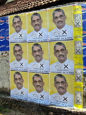 Sarath Fonseka - Election campaign posters