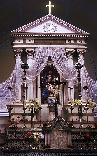 Our Lady of Graces - High altar of Basilica of Our Lady of Graces in Sardhana, India
