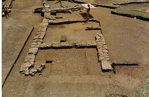 Satricum - Students at work at the archaeological site of Satricum in 1983.