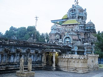 Sattainathar Temple, Sirkazhi - The central shrine with three levels