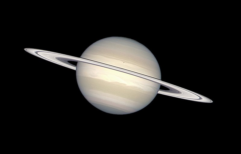 File:Saturn in natural colors (captured by the Hubble ...