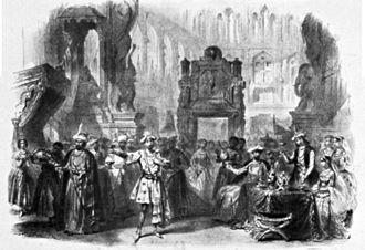 Théâtre Lyrique - A scene from Si j'étais roi (1854)