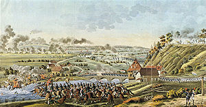 French invasion of Switzerland - Contemporary drawing of the battle of Neuenegg, 5 March 1798.