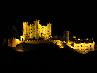 Hohenschwangau Castle - Hohenschwangau Castle at night