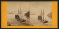 Schooner Mendocino wrecked at Mendocino in the great storm of 1867, by Hazeltine, M. M. (Martin M.), 1827-1903.png