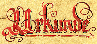 "Calligraphy - Calligraphy of the German word ""Urkunde"" (deed)"