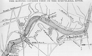 Max Schmitt in a Single Scull - Schuylkill River Rowing Course (1872).