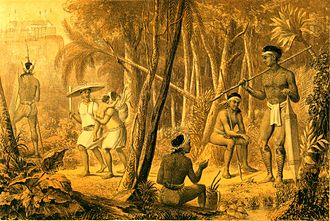 Ngaju people - Ngaju people of southern Borneo as depicted by the first explorer to Borneo, Carl Schwaner, 1854.