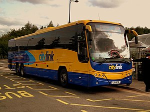 Scottish Citylink - Plaxton Panther 2 bodied Volvo B13R at Buchanan bus station, Glasgow in September 2011