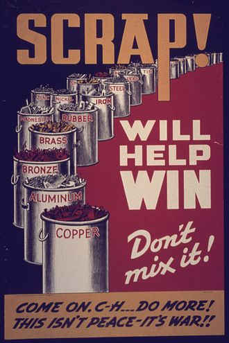 Recycling - American poster from World War II