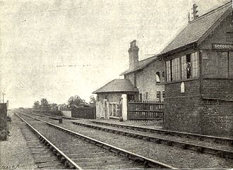 Scrooby railway station - station and signalbox in 1897