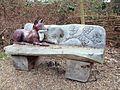 Sculptured Wooden Seat, Mereway Nature Park, Twickenham, London. (3349212329).jpg