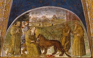Della Rovere Chapel (Santa Maria del Popolo) - St Jerome extracting a thorn from a lion's paw