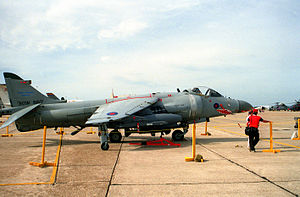 Sea Harrier FA2 at Eglin AFB 1993.JPEG