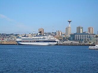 Mein Schiff Herz - As former Celebrity Mercury in 2006 docked in Seattle being inspected