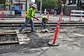 Seattle - laying trolley tracks on Broadway at Pine 16.jpg