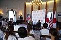 Secretary Clinton and Ambassador Roos at the Tomodachi Event (7527735544).jpg