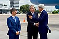 Secretary Kerry, watched by Ukrainian Deputy Foreign Minister Prystaiko, chats with U.S. Ambassador Pyatt after Arriving at Kyiv Boryspil International Airport (28069955301).jpg