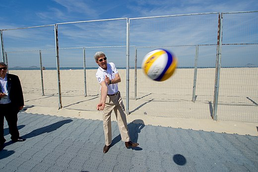 Secretary Kerry Hit's a Volleyball After Visiting with Team USA Volleyball Players (28188397264).jpg