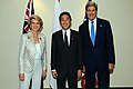Secretary Kerry With Australian and Japanese Foreign Ministers Bishop and Kishida Before the Trilateral Security Dialogue (10085692694).jpg