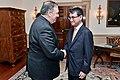 Secretary Pompeo meets Greets Japanese Foreign Minister Kono (28755906838).jpg