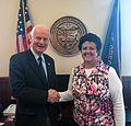 Secretary Richardson and Mary Beth Herkert (34231251510).jpg