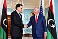 Secretary Tillerson Meets With Libyan Prime Minister Fayez al-Sarraj in Washington (24892989028).jpg