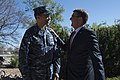 Secretary of Defense Ash Carter is greeted by Adm. Cecil Haney.jpg
