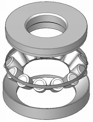 Thrust bearing - A spherical roller thrust bearing