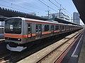 Series E231-900 MU1 in Kaihin-Makuhari Station 02.jpg