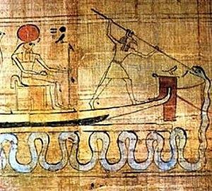 Set (deity) - Set spears Apep.