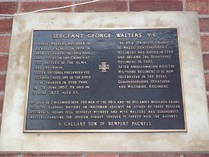 George Walters (VC) - Commemorative Plaque