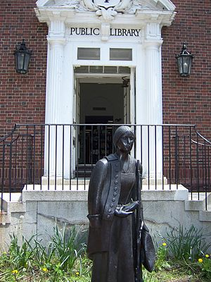 Sharon, Massachusetts - Statue of Deborah Sampson outside the  public library