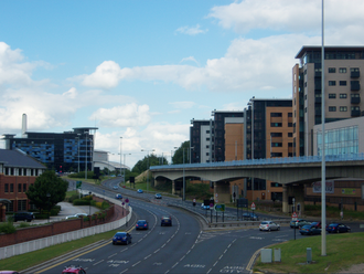 Sheffield Parkway - Sheffield Parkway as viewed from Park Square