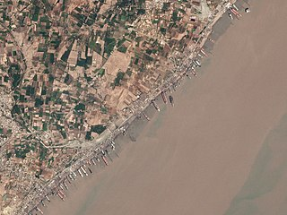 Alang City in Gujarat, India