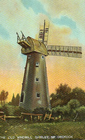 Shirley Windmill - The mill c. 1910
