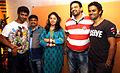 Siddharth, Sajan Agarwal, Sunidhi Chauhan, Mukesh Chaudhary, Sangeet Haldipur at Kailasha Studio (2).jpg