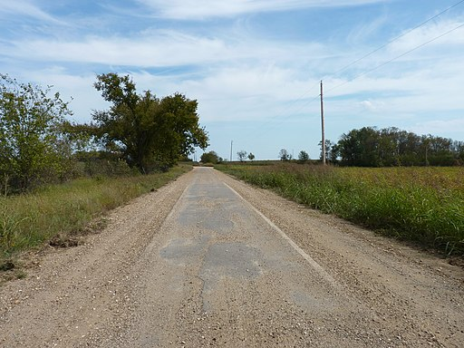 """Sidewalk highway"" section of Route 66 near Miami, Oklahoma. Sidewalk Highway.jpg"