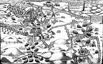 Siege of Kinsale - Siege and Battle of Kinsale, 1601 from the Pacata Hibernia, 1633