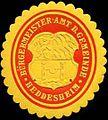 Siegelmarke Bürgermeister-Amt der Gemeinde Heddesheim W0309948.jpg