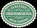 Siegelmarke Gemeinde Oberwiera - Amtshauptmannschaft Glauchau W0252497.jpg
