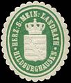 Siegelmarke H.S. Mein. Landrath Hildburghausen W0350309.jpg