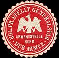 Siegelmarke K.Pr. Stellv. Generalstab der Armee - Abwehrstelle Nord W0283741.jpg