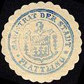 Siegelmarke Magistrat der Stadt - Plattling W0229226.jpg