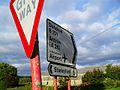 Signs at Mullaghglass - geograph.org.uk - 1506768.jpg