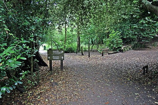 Signs on the footpath, Eastham Country Park (geograph 4563562)